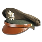 U.S. Army Officer's Visor Cap - Khaki Collector's Grade WWII