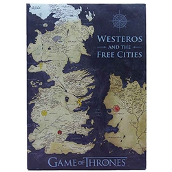 Game of Thrones Coloured Map Canvas Banner 291-CALWFXMAP