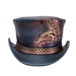 Leather Dragon Top Hat