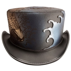 Spalsh Leather Top Hat