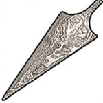 Damascus Steel Arrowheads