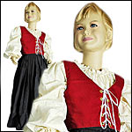 Children's Bodices, Skirts, Chemises, Dresses, Gown, Cape and Bloomers