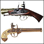 Safe Non Firing Flintlocks and Early Period Pistols