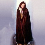 Short Velvet Cape With Hood 100300