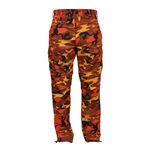 12-3004 Color Camo Tactical BDU Pant - Orange, BDU Pant, B.D.U. Pant, BDU Pants, B.D.U., B.D.U.'s, fatigue pante, bdu fatigues, b.d.u. fatique pants, fatigues, camouflage bdu pants, camouflage fatigues, camo fatigues, military camo pants, cargo pants, cargo fatigue pants, camo cargo pants, battle dress camo pants, poly cotton camo pants, camo uniform pants, camo bdu fatigues, military fatigue pants, camouflage military pants