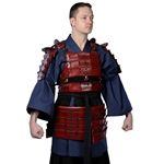 Leather Samurai Armor - Red