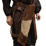 Archers Leather - Canvas LARP Quiver, Brown