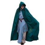 Medieval Knight's Cloak - Dark Green Cotton