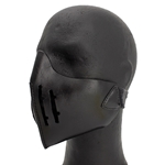 Leather Mempo Mask Black