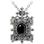 Orthodox Icon Locket Necklace  Pewter Alchemy P341