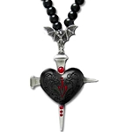 Heart of Darkness Necklace Pewter Alchemy P552