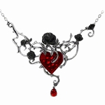Bed Of Blood Roses Necklace Pewter Alchemy P630