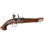 18th Century Flintlock Pistol Brass - Non-Firing FD1076L