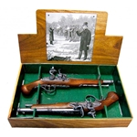 18th Cen. Colonial Dueling Pistol Set - Non-Firing Replica,18th Century Flintlock Pistol - Grey - Non-Firing FD1102G