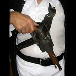 Flintlock Pistol Baldric with Non Firing Pistol