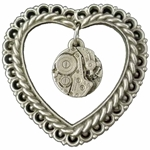 Victoria's Steampunk Heart Brooch 106.1205