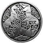 Large Celtic Horse of Epona Button 107.0702