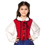 Girl's Reversible Pirate Bodice C1262