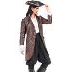 Ladies Brocade Privateer Coat C1364