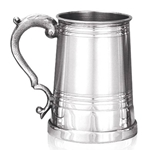 Worcester Satin Band Pewter Tankard One Pint EP060