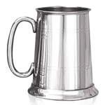 C Handle One Pint Pewter Tankard