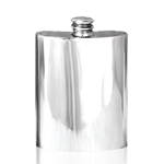 Plain Pewter Flask 6 Ounces