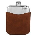 Purse and Pouch Pewter Flask 6 Ounces