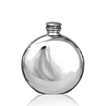 Plain Round Pewter Flask 4 Ounces