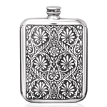 Victoria Leaves Pewter Flask 6 Ounces