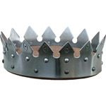 Medieval Armor Crown - Steel or Brass - SCA