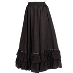 Reversible Parlor Skirt - Steampunk Skirt 101634