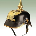 German Baden Infantry Helmet - WWI Leather Repro