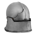 Jaw Bone Visor Sallet Helm, 14 Gauge, Large 29-AB0452