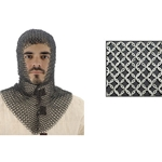 Chainmail Coif, V-Shape Face, Code 9