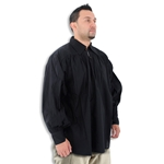 Renaissance Collared Cotton Shirt Black Medium GB3020