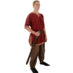 Viking Shirt, Burgundy, Large Tunic