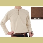 Heavy Cotton Shirt, Brown, Large