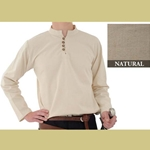 Heavy Cotton Shirt, Natural, Medium