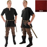 Medieval Tunic, Red, Extra Large