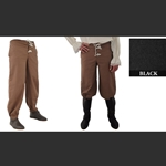 Pirate Pants, Black, Medium