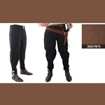 Medieval Ankle Laced Pants, Brown, Large