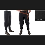 Medieval Ankle Laced Pants, Black, Extra Large