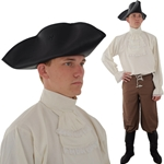 Leather Tricorn Hat, Medium