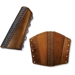 Leather Rogue Arm Bracer in Brown Small