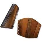 Leather Rogue Arm Bracer in Brown Medium