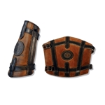 Leather Wizard Arm Bracer in Brown Small