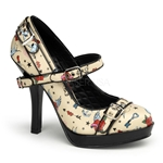 Tattoo Secret Pumps with Buckle Straps