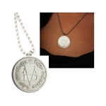 Faceless Man Coin Necklace Silver 417-FM-Necklace-SL