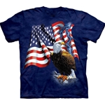 Eagle Flag Adult 2X-Large T-Shirt