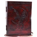 Large Fairy Moon Leather Blank Book 45-BBBCF710